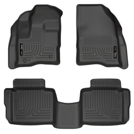 Husky Custom Molded Cargo Liners (Husky Liners Front & 2nd Seat Floor Liners (Footwell Coverage) Fits 10-18 Taurus )