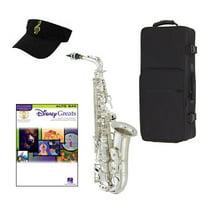Disney Greats Silver Alto Saxophone Pack - Includes Alto Sax w/Case & Accessories, Disney Greats Play Along Book