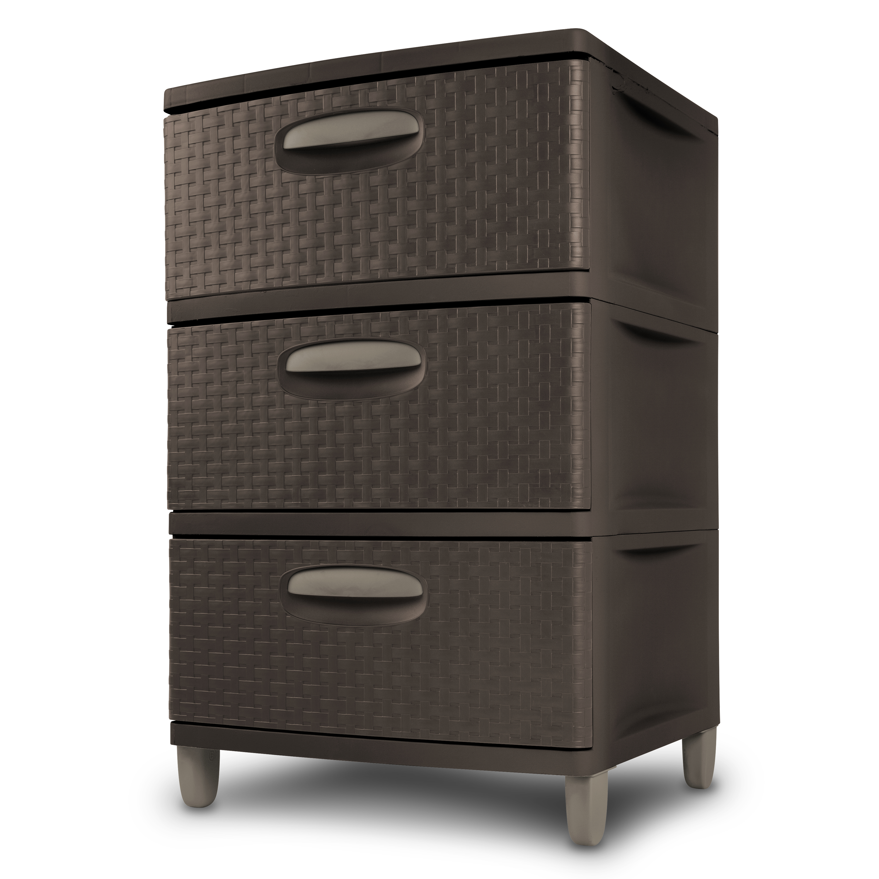 Sterilite 3 Weave Drawer Unit, Espresso
