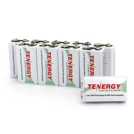 Discharge Nimh Battery - Tenergy Centura 9V 200mAh Low Self-Discharge (LSD) NiMH Rechargeable Batteries, 10-Pack
