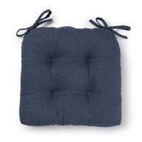 Better Homes & Gardens Shredded Memory Foam Chair Cushion, Washed Indigo Blue, Single