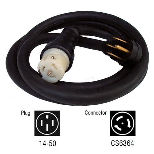 Generac 6330 10-Foot 50-Amp 6/4 Generator Power Transfer Switch NEMA Power Cord