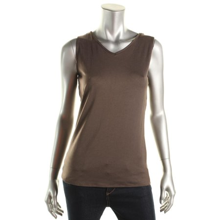 NY Collection Womens Reversible Scoop Tank Top