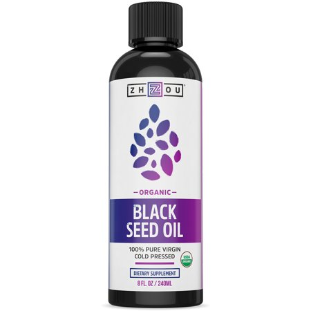 Certified Organic Black Seed Oil - 100% Virgin, Cold Pressed Source of Omega 3 6 9 - Nigella Sativa Black Cumin - Super Antioxidant for Immune Support, Joints, Digestion, Hair & Skin, 8oz