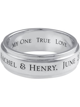 Personalized Family Jewelry?Men's Commitment Band available in Sterling Silver and Gold
