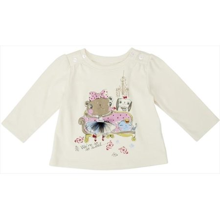 Klever Kids FW12-I19-6-12 Baby Girl -Knit Long Sleeve Crew Neck Graphic T-Shirt, 6-12 Months