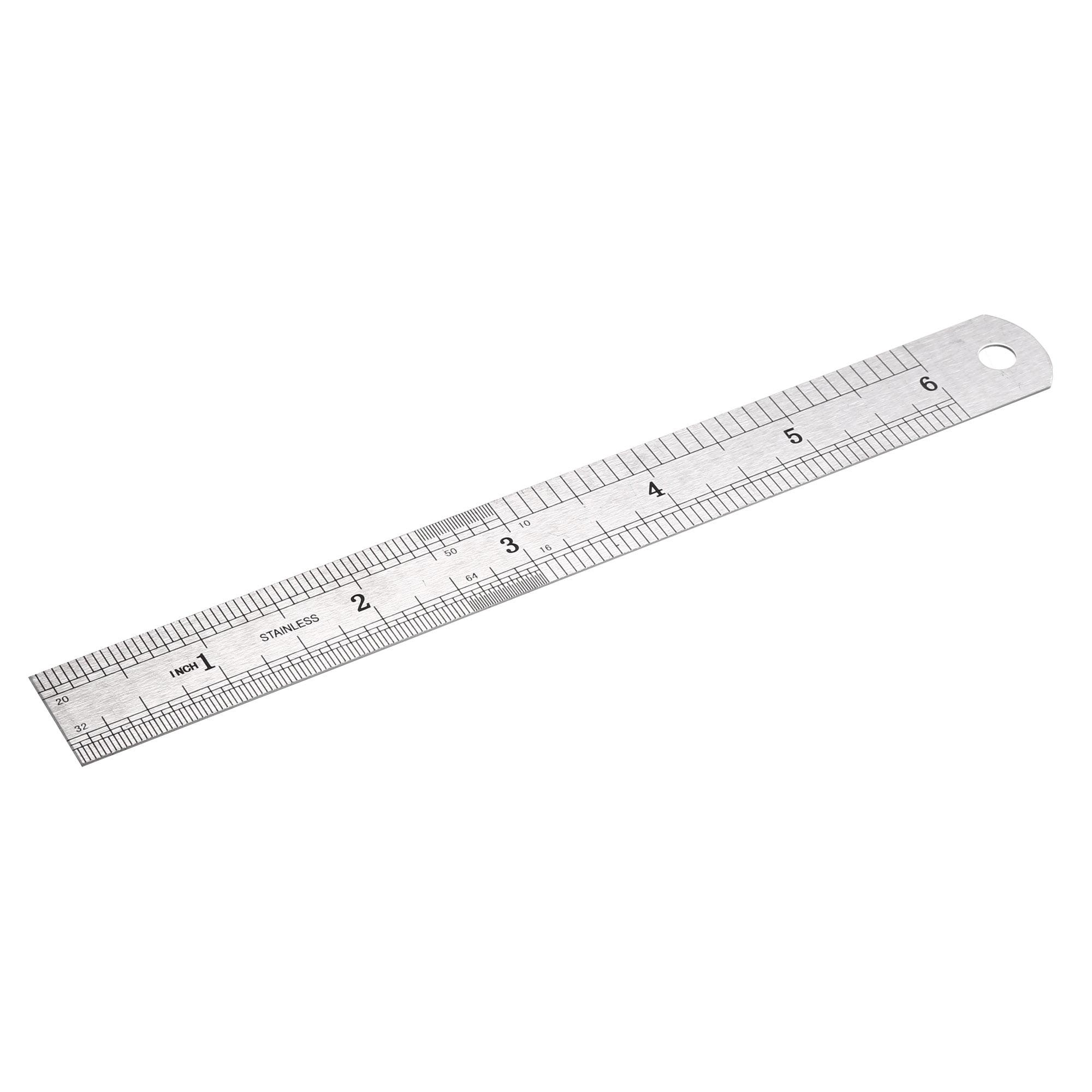 Steel Ruler 6 Inch Ruler Metal Ruler Ruler Inches And Centimeters Drawing Ruler Measuring Ruler Walmart Com Walmart Com