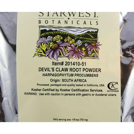 Best Starwest Botanicals Devils Claw Root, Wild crafted Powder 1 lb,  Bulk Herbs deal