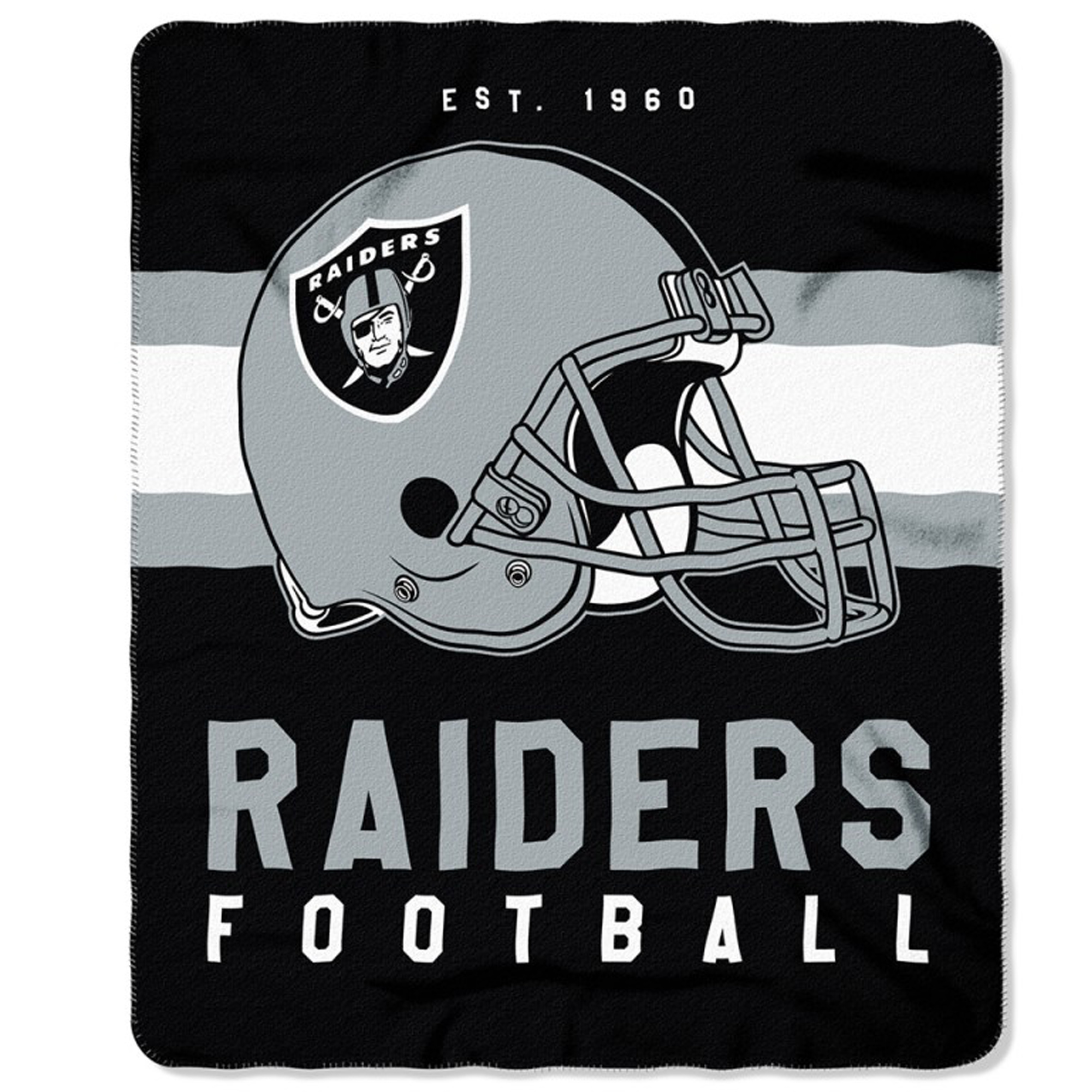 "NFL Oakland Raiders ""Singular"" 50"" x 60"" Fleece Throw"