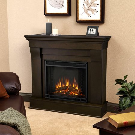 Real Flame Chateau Electric Fireplace - Dark Walnut