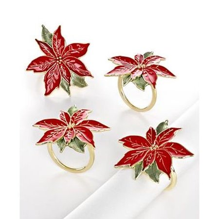 Christmas Tablecloths And Napkins (Lenox French Perle Poinsettia Gold Set of 4 Napkin)