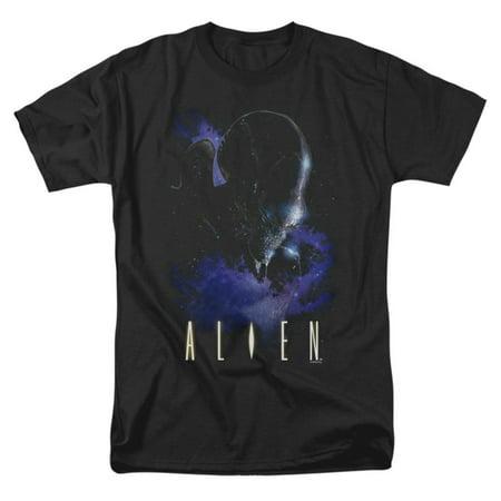 Alien Men's  In Space T-shirt Black (Aliens From Men In Black)