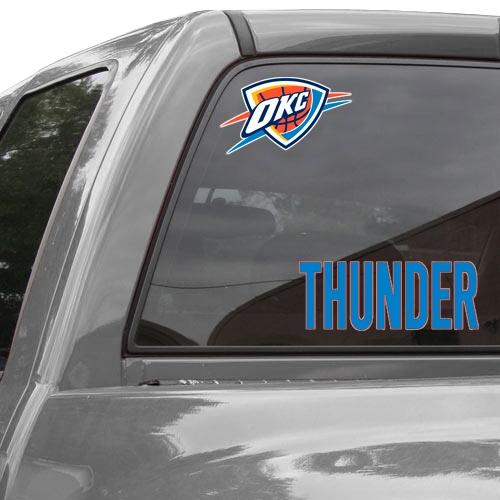 "Oklahoma City Thunder WinCraft 3"" x 10"" Logo Perfect Cut Decal - No Size"