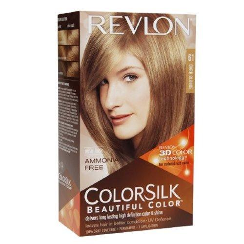 2 Pack Revlon ColorSilk Beautiful Permanent Hair Color (61) Dark Blonde