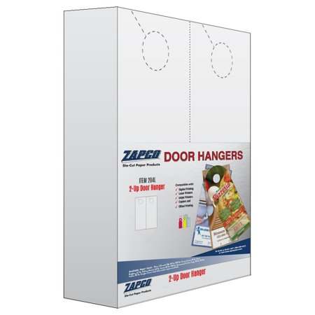 Blank Door Hangers (2-UP Print Ready Micro-Perforated Blank Door)