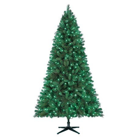Holiday Time Prelit Spruce Christmas Tree 7.5 ft, Green