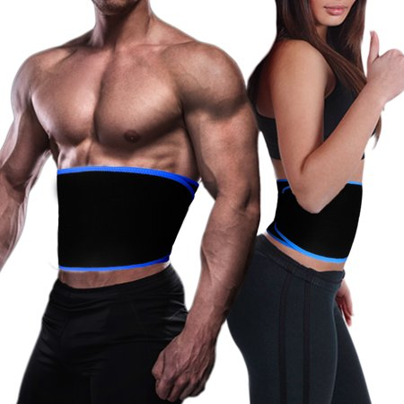 Elegant Choise 8'' Waist Trimmer Belt, Neoprene Adjustable Stomach Fat Burner, Low Back and Lumbar Support with Sauna Suit Effect for Women and Man,