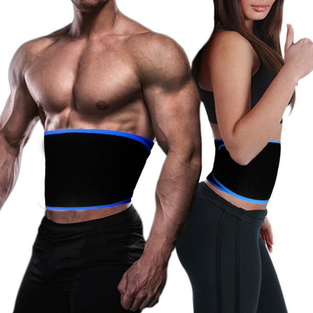 Details about  /Waist Trimmer Exercise Trainer Adjustable Weight Loss Belt Fat Burner Wrapper