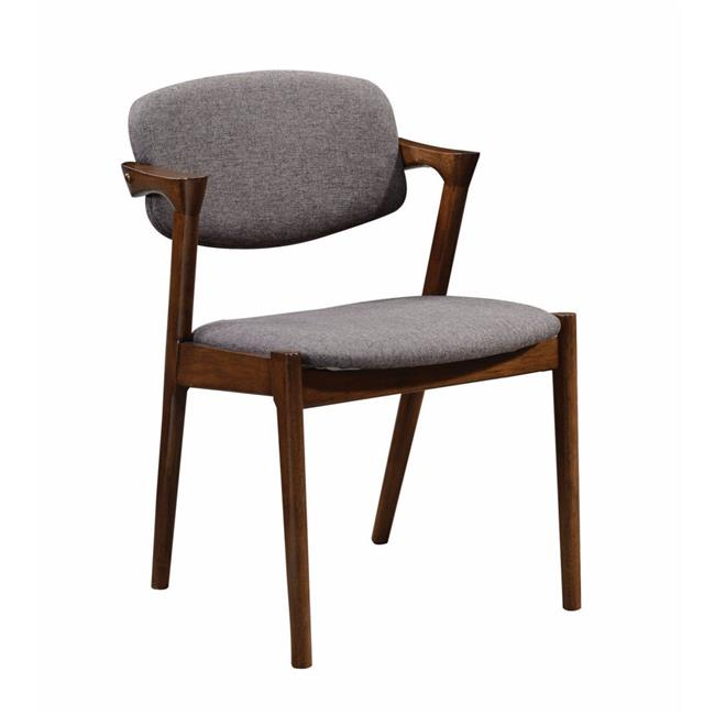 Benzara BM163697 Wooden Modern Dining Side Chair, Gray - Set of 2 - image 1 of 1