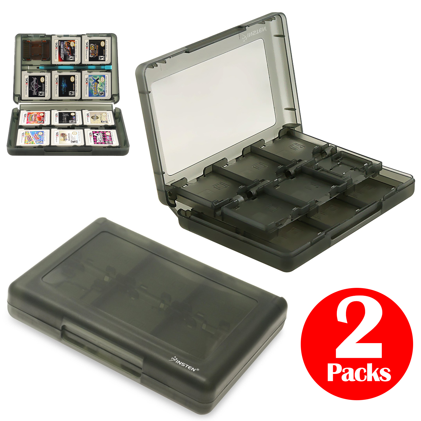 TSV 28-in-1 Game Card Case Compatible With Nintendo 3DS - 2Packs