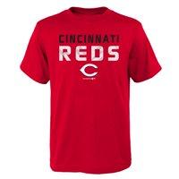 MLB Cincinnati REDS TEE Short Sleeve Boys Team Name and LOGO 100% Cotton Team Color 4-18