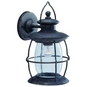 Boston Harbor Dimmable Outdoor Lantern, (1) 60/13 W Medium A19/Cfl Lamp, Misty Pewter