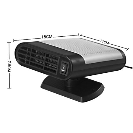 12V 150W Protable Electric Heating Cooling 2 in 1 Fan Windscreen Window Demister Driving Defroster - image 5 de 6