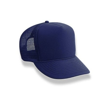Retro Foam & Mesh Trucker Baseball Hat, Navy Blue