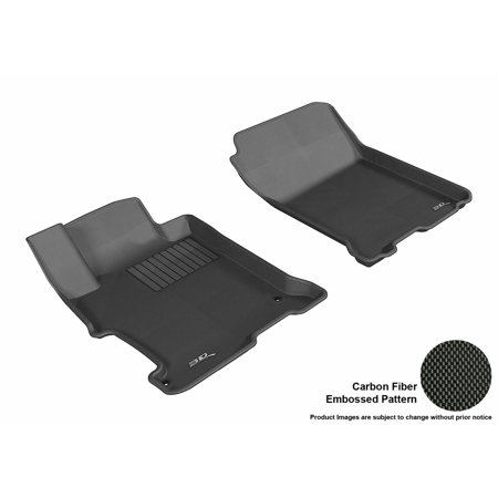 3D MAXpider 2013-2017 Honda Accord Coupe/Sedan Front Row All Weather Floor Liners in Black with Carbon Fiber