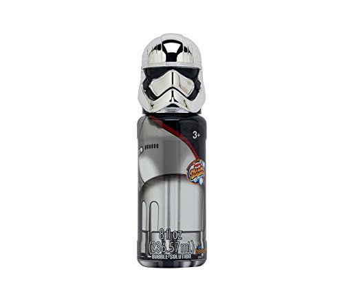 8 fl oz Star Wars Bubble Solution with Captain Phasma Head by Imperial Toy