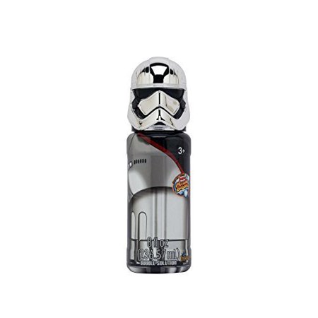 8 fl oz Star Wars Bubble Solution with Captain Phasma - Funny Bobble Head