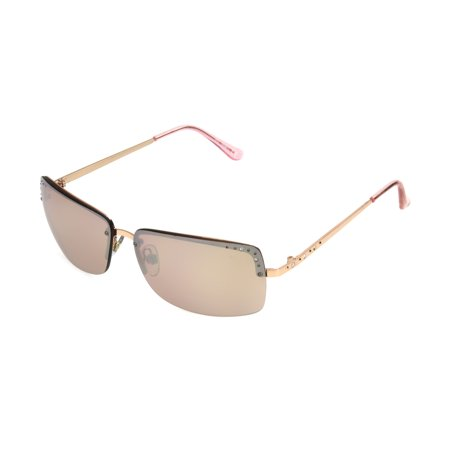 Foster Grant Women's Rose Gold Rectangle Sunglasses (Ray Ban Rose Gold Glasses)