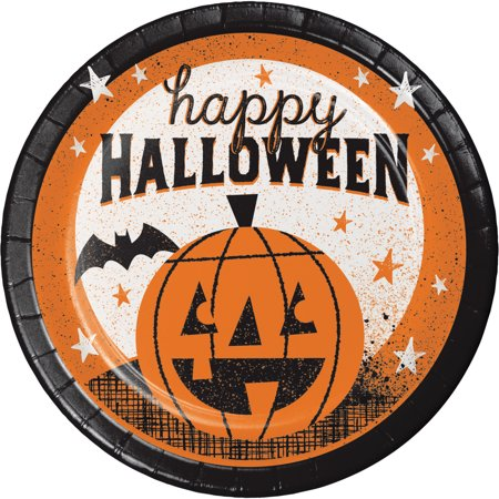Happy Halloween Dessert Plates, 24 count