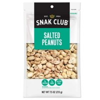 (Price/CASE)Snak Club 1721146 Century Snacks Premium Pack Salted Peanuts 7.5 ounce - 6 Per Case