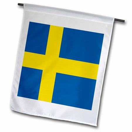 3dRose Flag of Sweden - Swedish blue and golden yellow Nordic Scandinavian Cross gold Scandinavia world - Garden Flag, 12 by 18-inch