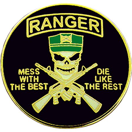 Us Army Rangers Mess With The Best Pin 1 Walmart