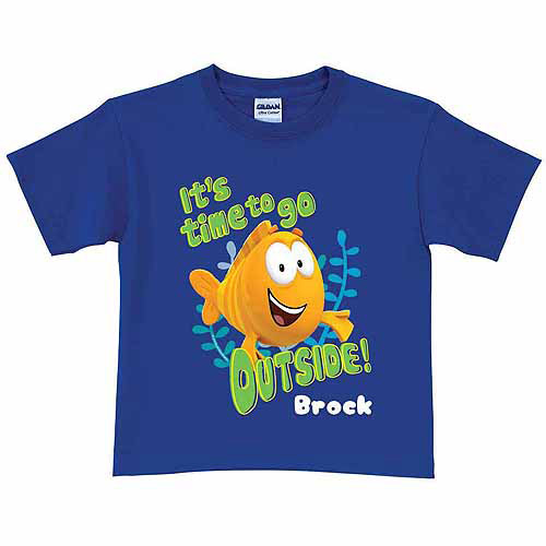 Personalized Bubble Guppies Mr. Grouper Toddler Boy T-Shirt, Blue