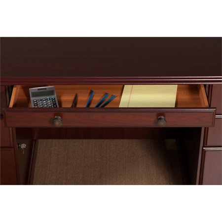 kathy ireland Office Manager's Desk and Bookcase in Harvest Cherry - image 5 de 8