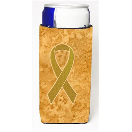Gold Ribbon for Childhood Cancers Awareness Michelob Ultra bottle sleeves for slim cans  12 Oz. - image 1 de 1