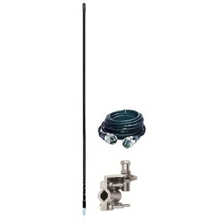 Aries 10813 3` FOOT CB RADIO ANTENNA KIT 500 WATT MIRROR