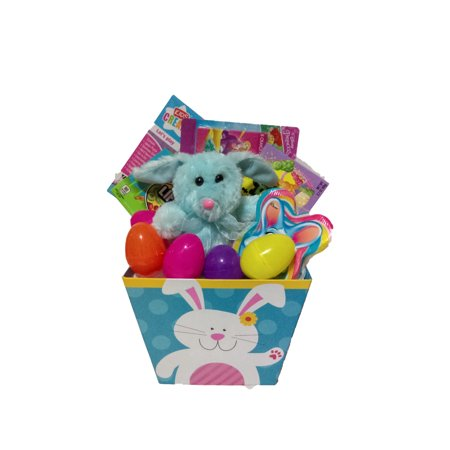 Blue Bunny Children's Easter Activity Gift Basket](Filled Easter Baskets)