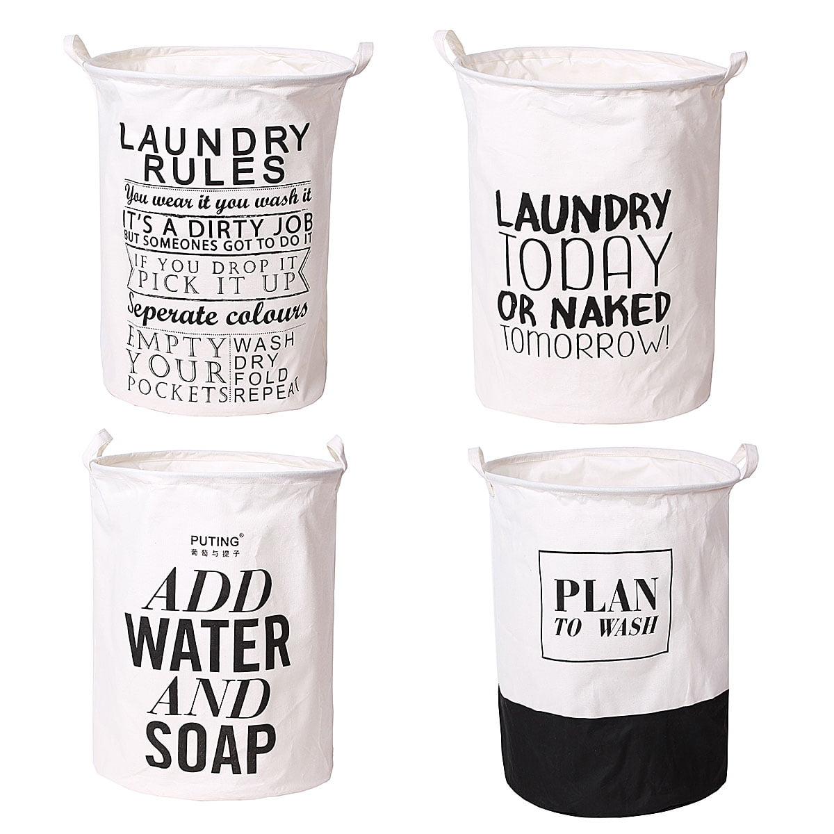 Folding Cotton Linen Hamper Laundry Bag Basket with Handle Washing Washing basket Clothes & Toys Storage Organizer