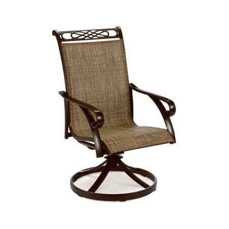 Patio Master ADV07701H60 Madera Sling Swivel Rocker, Aluminum Frame, Taupe Fabric, Must Purchase in Quantities of 2