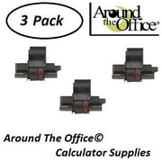 CASIO Model HR-150-TM Compatible CAlculator CP-13 Black & Red Ink Roll by Around The Office
