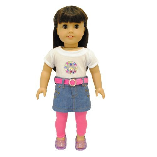"""Doll Clothes 4 Piece Outfits Set Fits American Girl & Other 18"""" Inch Dolls by Pink Butterfly Closet"""