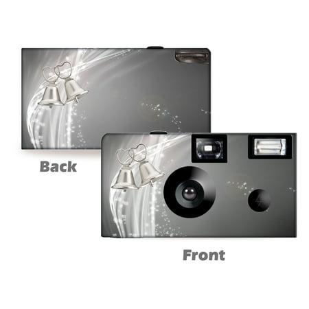 Silver Bells Wedding Disposable Cameras, 5 pack, free shipping, Wedding Cameras, Anniversary Camera, Disposable Cameras from CustomCameraCollection WM-51201-C (Wedding Disposable Cameras)