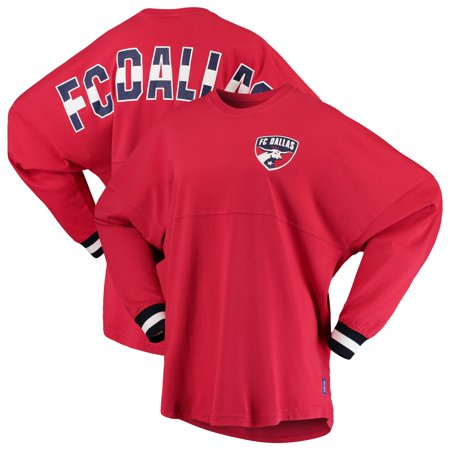 new product 5b1f2 35de4 FC Dallas Fanatics Branded Women's Cuffed Spirit Jersey Long Sleeve  T-Shirt- Red - Walmart.com