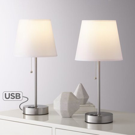 360 Lighting Modern Accent Table Lamps 18 Quot High Set Of 2