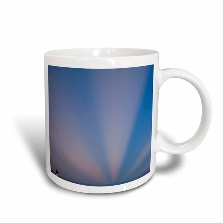 3dRose Georgia, Tybee Island. Rays of light at sunrise - US11 JWL0499 - Joanne Wells, Ceramic Mug, 15-ounce