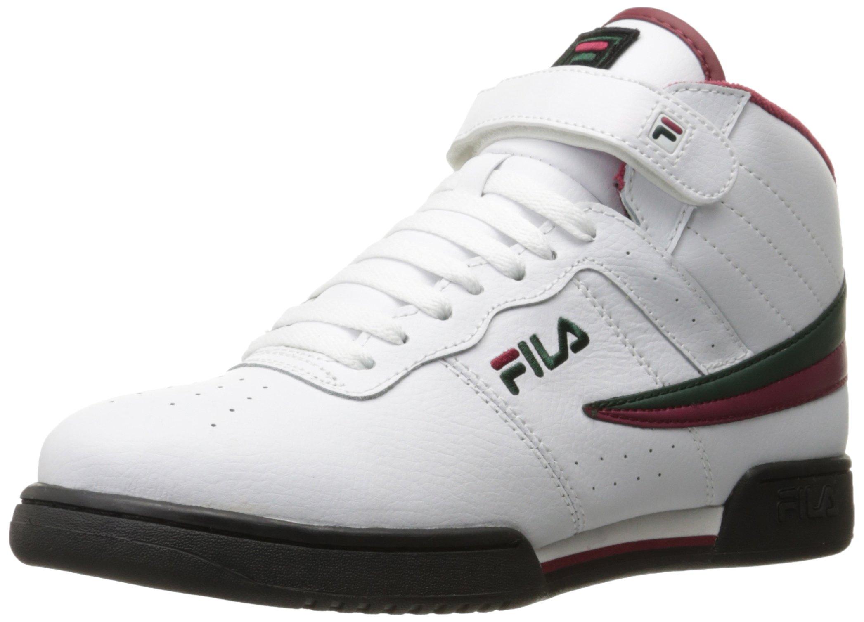 Fila 1VF059LX-157 : Men's F-13v Lea syn Fashion Sneakers White by Fila Footwear